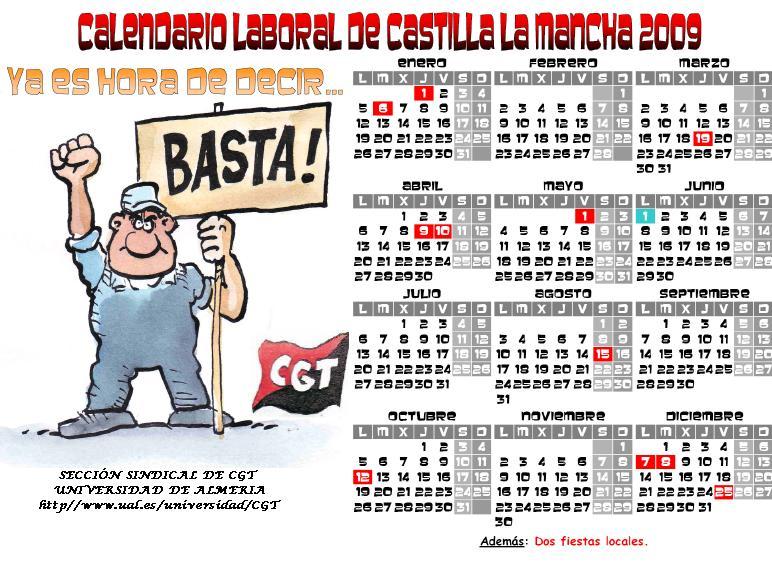 Calendario Ual.Ral Del Trabajo Calendario Castilla La Mancha 2009 Ual