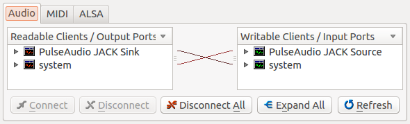 JACK (JACK Audio Connection Kit) and related tools
